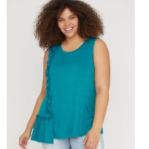 Lane Bryant Sleeveless Asymmetrical Tank 22/24